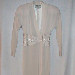 Daymor Couture White Maxi Wrap Dress